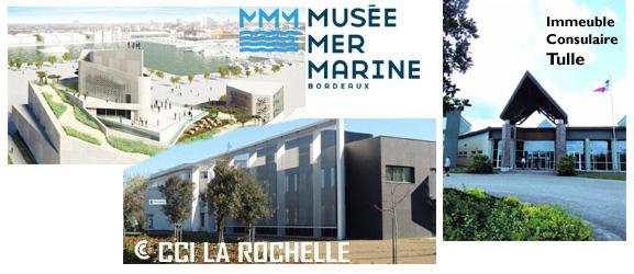 CCI de La Rochelle - Immeuble inter consulaire de Tulle - Musée Mer Marine à Bordeaux
